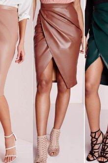 Какие модели кожаных юбок-карандашей бывают