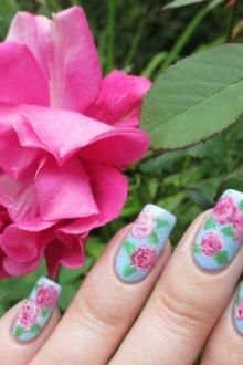 Рисуем винтажные цветы