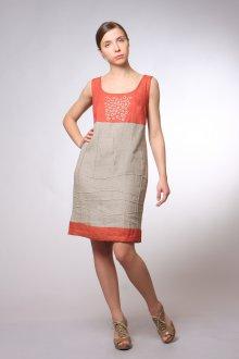 Льняное стильное платье