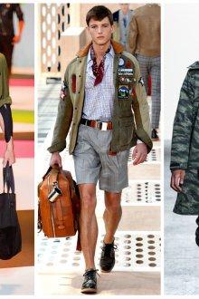 Модная мужская одежда в стиле милитари