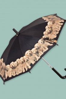 Детский зонтик с большим куполом с щенятами