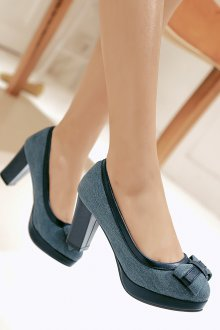 Туфли из джинсы