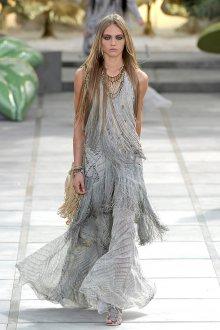 Серое модное платье в стиле прованс