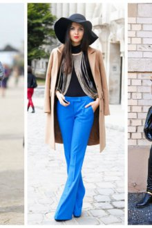 Пальто и свитер во французском стиле