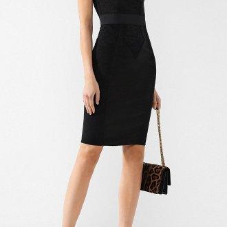 Платье-футляр с бюстье