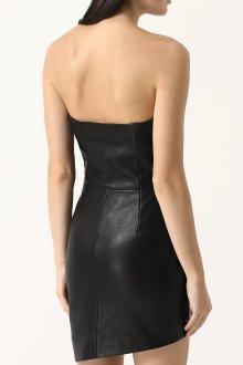 Кожаное платье-бюстье