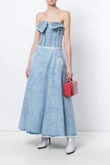 Джинсовое платье-бюстье