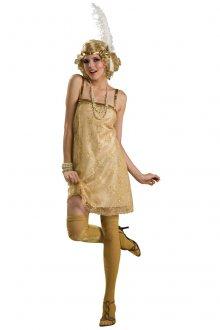 Золотистое платье в гангстерском стиле