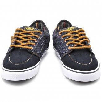 Джинсовые мужские кроссовки с яркими шнурками