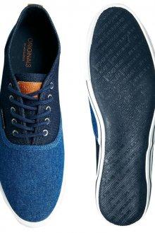 Мужские туфли из джинсовой ткани