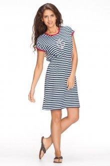 Свободное платье в морском стиле
