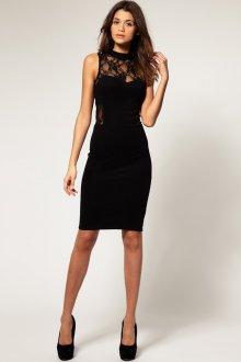 Черное женское классическое платье