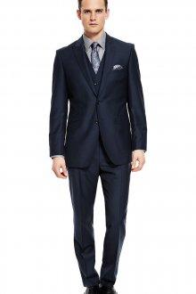 Темно-синий классический черный мужской костюм тройка