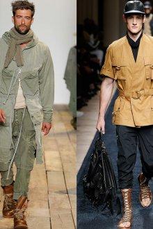 Мужская модная одежда в стиле сафари