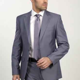 Современный серый мужской деловой костюм