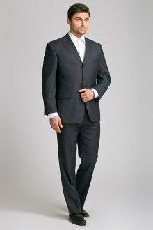 Современный черный мужской деловой костюм