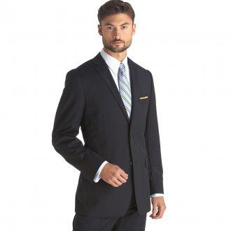 Элегантный черный мужской деловой костюм