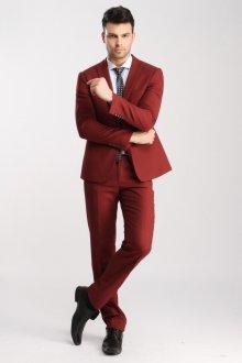 Стильный красный мужской деловой костюм