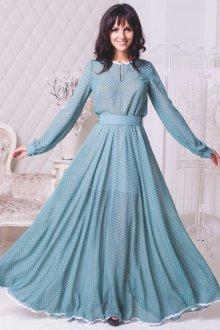 Длинное платье в романтическом стиле