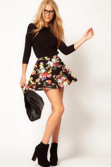Цветочная юбка в романтическом стиле
