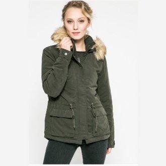 Короткая женская куртка-парка