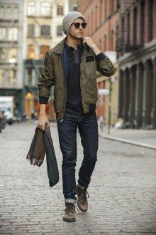 Демисезонный мужской образ в стиле casual