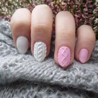 Дизайн «свитер» на ногтях