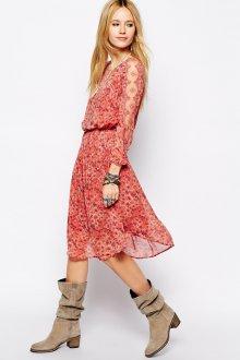 Платье и сапоги в стиле кантри