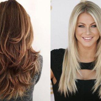 Стрижка «лисий хвост» на длинные волосы