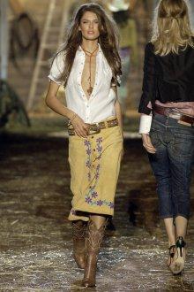Юбка и блуза в стиле кантри
