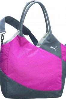 Розово-серая спортивная женская сумка