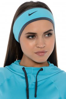 Голубая спортивная женская повязка на голову