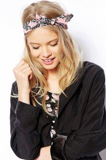 Розовая спортивная женская повязка на голову