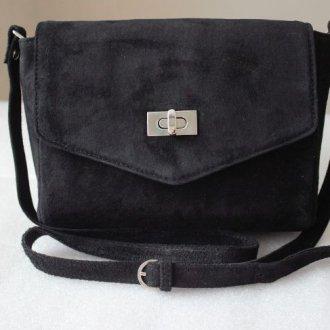 Замшевые черные сумки
