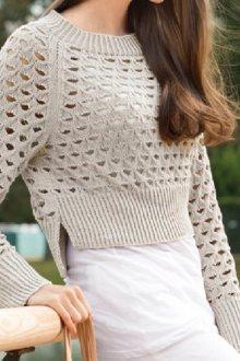 С чем носить короткий свитер