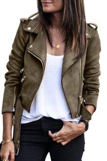 Женские замшевые короткие куртки