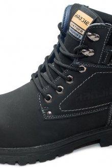Зимние черные мужские ботинки