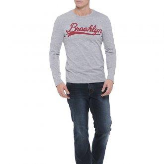 Мужские прямые джинсы в спортивном стиле