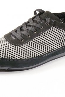Черно-серые спортивные мужские туфли с перфорацией