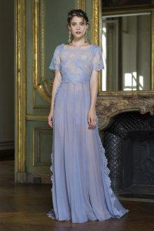 Сиреневое платье в стиле рококо