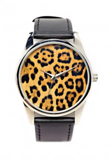 Часы с леопардовым принтом