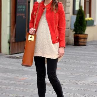 С чем носить рыжие ботинки