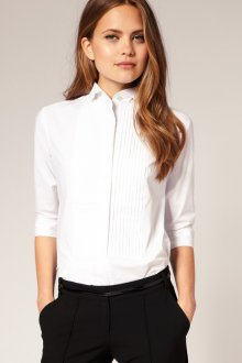 Белая офисная рубашка для женщин после 40 лет