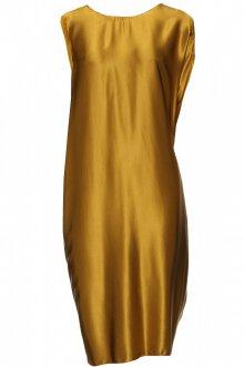 Золотистое платье для полной женщины 50 лет