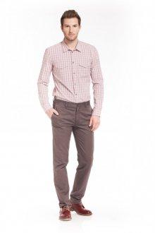 Коричневые мужские брюки слаксы