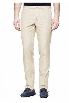 Кремовые мужские брюки слаксы