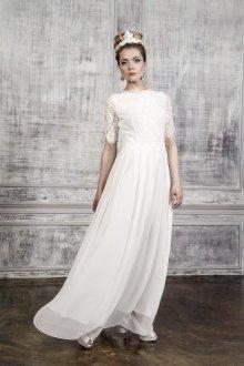 Белое длинное винтажное свадебное платье