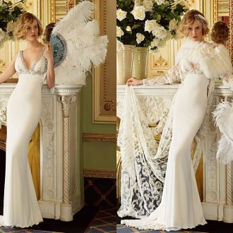 Варианты свадебного платья с болеро и без