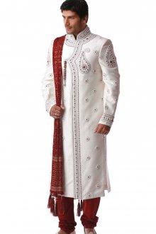 Мужская белая индийская курта