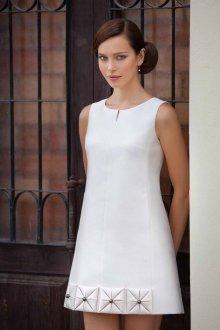 Белое винтажное платье 60 годов